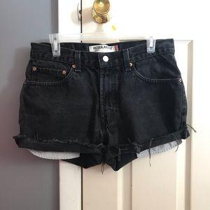 Levi's Regular fit 505 Jean Shorts (Black)